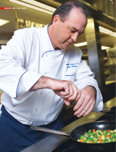 Chef Gerard Clinton at work